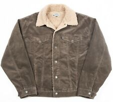 Vintage JEPS Sherpa Fleece Lined Cord Jacket | Womens 2XL XXL | Corduroy Trucker