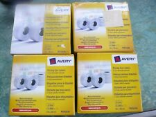 4 Brand New Boxes Avery Pricing Gun Labels 10 Rolls Per Box