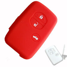 Remote Car key silicone cover case for TOYOTA Camry reiz crown highlander Red