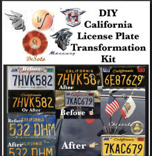 DIY CALIFORNIA Legacy License Plates VINTAGE AMERICAN CAR