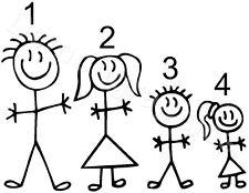 Stick figure X1 construire votre famille voiture fenêtre autocollant free post ref 230