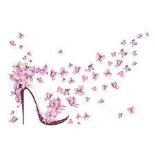 Pink Fairy Butterfly Trees Wall Sticker Living Room Girls Children Bedroom Decor
