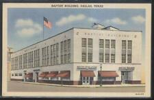 Postcard DALLAS Texas/TX  Baptist Book Store Building view 1940's