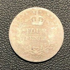 aVG 1909 4 Pence Four  British Guyana Silver World Coin!