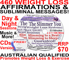 WEIGHT LOSS AFFIRMATIONS + SUBLIMINAL MESSAGES SET HYPNOSIS CD & MP3 WEIGHTLOSS