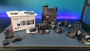 Canon EOS M 18.0mp BUNDLE with EF-M 18-55mm f/3.5-5.6 STM & 22mm STM Lenses