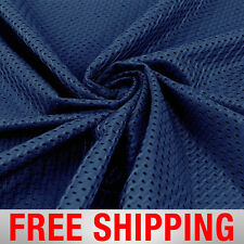 "Football Basketball Jersey Mesh Fabric Sports Navy 60"" Wide. Free Shipping"