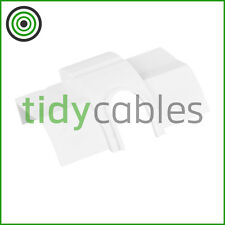 D-Line 22x22mm Quadrant TV Floor Cable Tidy - Cable Outlet Connector