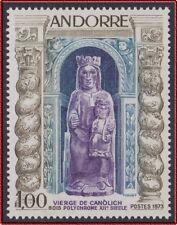 1973 ANDORRE N°225A** VIERGE DE CANOLICH , French Andorra Art, Religion MNH