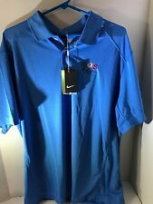 NWT NEW Nike Dri-Fit XL Golf Shirt Short Sleeve Polo Light Blue WOS Charity Open
