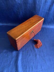 Antique Mahogany games box