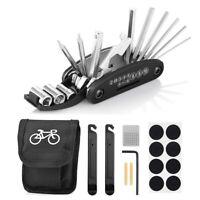 16 En 1 Kit De Reparación De Bicicletas Herramienta Multiple Juego De Herra K1Z2