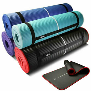 66 x 183cm Yoga Mat 10mm Thick Gym Exercise Fitness Pilates Workout Mat Non Slip