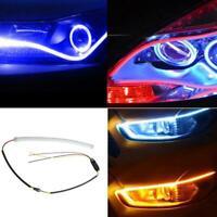 30/45/60cm LED Car Auto DRL Daytime Running Lamp Strip Light Flexible Tube Fast
