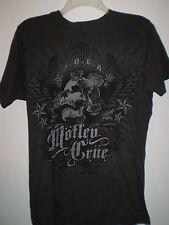 MOTLEY CRUE Concert Tour Shirt Short Sleeve (S) Small GRAY Skull Roses Stars