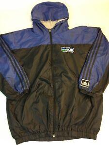 Vintage 90s Adidas Seattle Seahawks Jacket Women's L 18/20 NFL Rain Coat