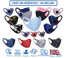 Adult Unisex Face Mask Mouth Protection Cover Washable Reusable Printed Unisex