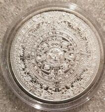 1 oz .999 Silver Aztec Calendar Stone Eagle Warrior Emperor of Tenochtitlan NEW
