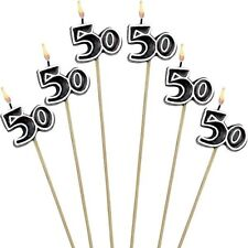 50th Birthday Candles Cake Toppers Fiftieth Fifty Party Decorations Supplies ~ 6