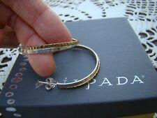 "Hoop"" Post Earrings P3511 Silpada Sterling Silver Brass ""Overlapping"
