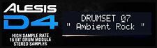 ALESIS D4 DRUM MODULE LCD DISPLAY - NEW D-4 REPLACEMENT SCREEN - DARK BLUE