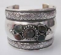 Statement Cuff Bracelet Boho kuchi Tribal Fusion Belly Dance Ats Fashion Jewelry