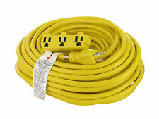 100 FT 14-3 Outdoor/Indoor Extension Cord 3 Outlet SJTW 13 Amp 1625 Watts 125V