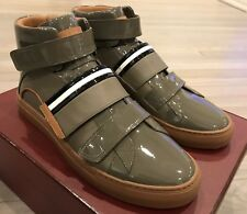 700$ Bally Herick Gray Leather High Tops Sneakers size US 14