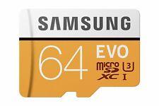 Samsung 64gb EVO microSDXC Ush-i Class 10 U3 Memory Card With SD Adapter