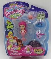 Splashlings Luminos Glow in Dark 6 pack Mermaid and 4 splashlings 1 in shell