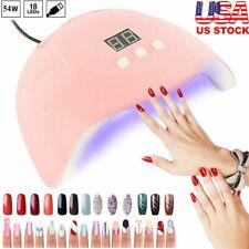 54W Uv Nail Lamp Auto Sensor Led Light Gel Acrylic Nail Polish Dryer With Timer