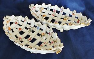 Continental Porcelain Latticed Sweet Dishes pos. German