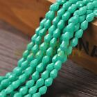 New Arrival 30pcs 8X6mm Faceted Teardrop Loose Spacer Glass Beads Lake Green