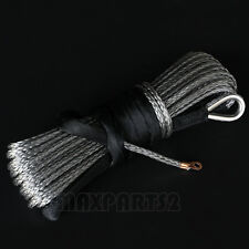 6MM X 15M Grey Synthetic dyneema Winch Rope Cable for ATV UTV boat marine