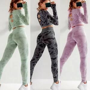 Damen Nahtlos Leggings Hohe Seamless Sporthose Fitness Gym Yoga Hose Jogginghose