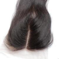 "Lace Top Closure 100% Virgin Brazilian Human Hair Sliky Straight 4""x4"" Stock"