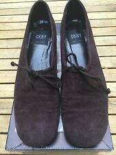 DKNY Flats Classic Vintage Brown Suede Shoes 6.5-New in Box- Orig. $150