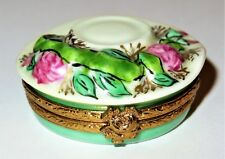 LIMOGES BOX -ARTORIA- GARDENING HAT -EASTER BONNET- ROSES - ARBOR & WATERING CAN