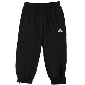 adidas Ess Woven Stanford Pant (Closed Hem) Ages 1/2, 2/3 Black RRP £25 BNWT