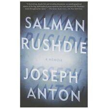 Joseph Anton : A Memoir by Salman Rushdie (2013, Paperback)