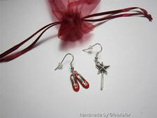 Dorothy Earrings with red shoes and fairy wand Wizard of Oz fairy tale jewellery