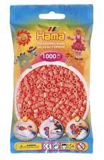 Hama - 207-44 Sachet 1000 Perles à repasser Rouge pastel