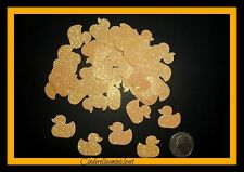 50 YELLOW GLITTER DUCKS DUCK DIE CUTS PUNCHES CONFETTI BABY SHOWER PARTY