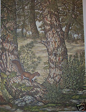 """""""Warming up Red Squirrel""""by Christine Marshall Ltd Edition ARP Lithograph #15/25"""