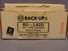 RDL Radio Design Labs RU-LA2D IHF-PRO Interface XLR to RCA NEW