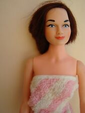 "Rare Blue Eyes Judy Littlechap Big Sister 13"" Doll in Striped Toweling Bathrobe"
