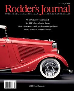 No. 56 Newsstand Cover B Dave Mehelich's 1934 Ford Roadster RODDERS JOURNAL