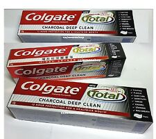 ^^ 3 x NEW Colgate Total Charcoal Deep Clean Toothpaste (150g/5oz) tooth