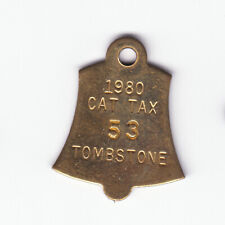 1980 Tombstone (Arizona) Cat Tax License Tag #53