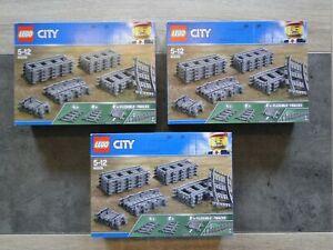 lego city rails/train lot de 3 boites neuves scellées 60205 x3